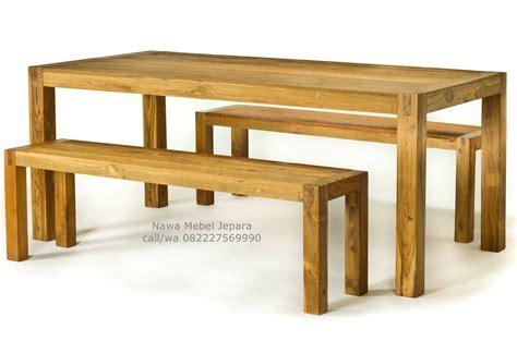 Meja Makan Jati Dan Harga meja makan cafe blok kayu jati jual meja dan kursi