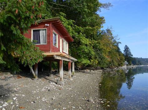 Waterfront Log Cabins For Sale by 288 Sq Ft Waterfront Tiny Cabin With Lot For Sale