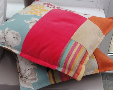 Patchwork Sewing Projects - eco patchwork cushion covers sewing projects