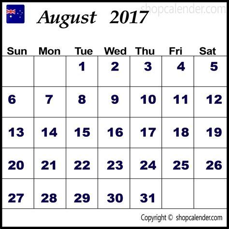 printable weekly calendar 2017 australia august 2017 calendar australia