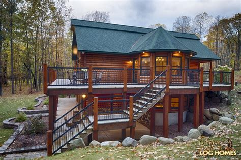 Cabin Plans With Basement golden eagle log homes log home cabin pictures photos