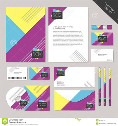 corporate layout free vector vector abstract corporate identity set graphic design