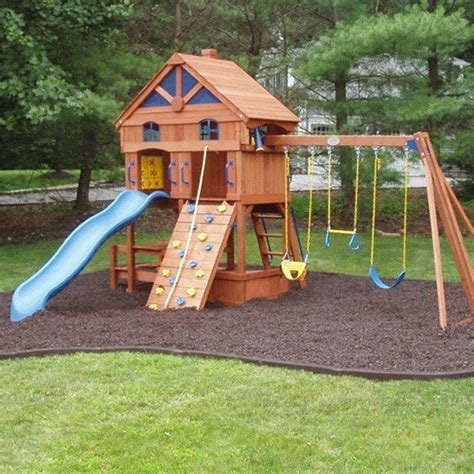 playground rubber mulch looose fill safety surface for