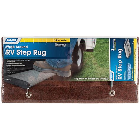 Rv Step Rug by Camco Wrap Around Rv Step Rug By Camco At Mills Fleet Farm