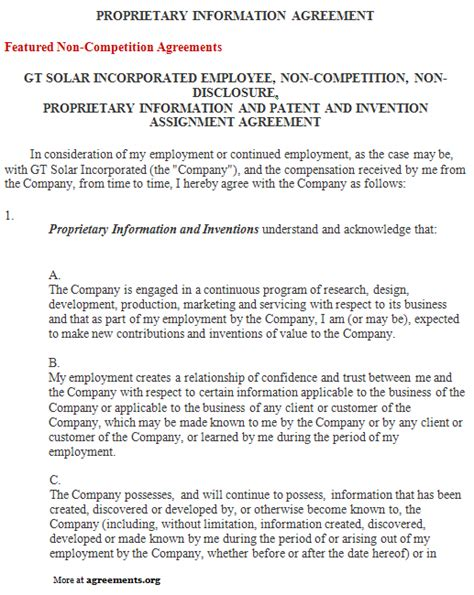 proprietary agreement template proprietary agreement template 28 images employee