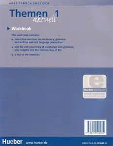 themen aktuell 2 workbook hueber themen 1 aktuell bilingual workbook arbeitsbuch for english students new 9783192516900