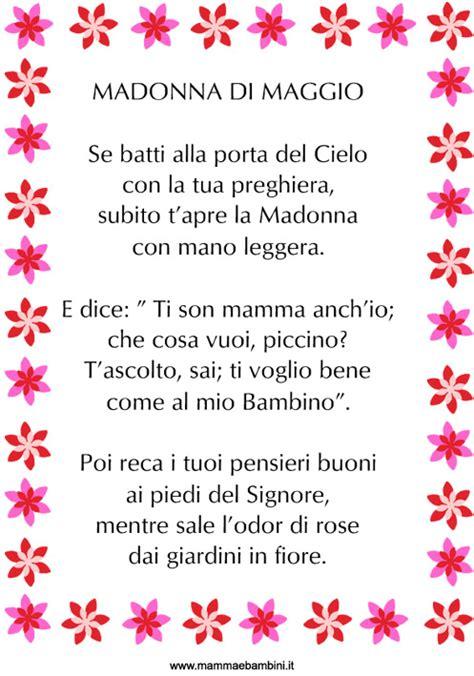 fiori di maggio testo poesia madonna di maggio in cornice mamma e bambini