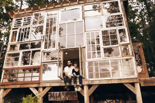 House Made Of Doors Leave Their To Build A Recycled Windows