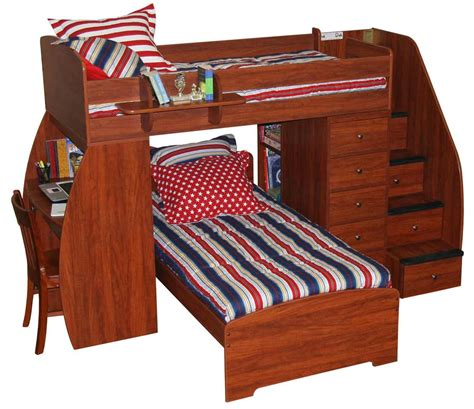 Bunk Bed With Desk And Stairs Bunk Bed Plans With Stairs And Slide 187 Woodworktips