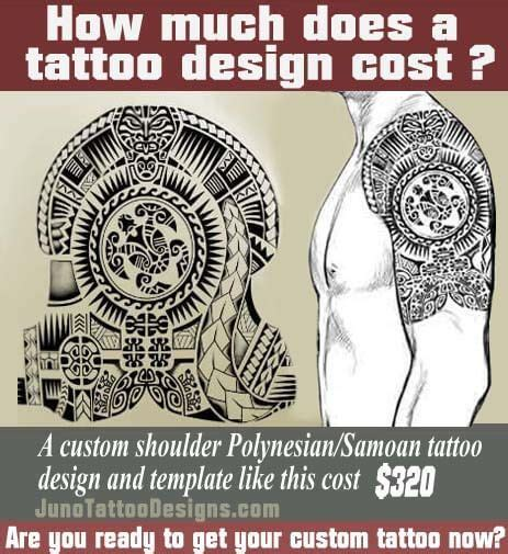 how much does a tattoo cost how does much a cost polynesian shoulder