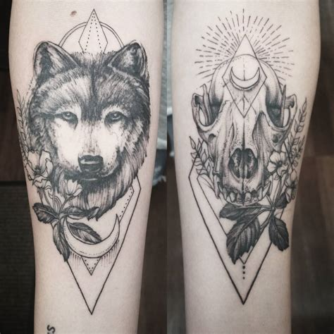 wolf skull tattoo yessssss so much yeahtattoos