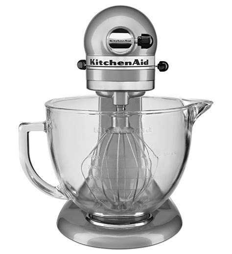 kitchenaid 174 5 quart tilt stand mixer with glass bowl
