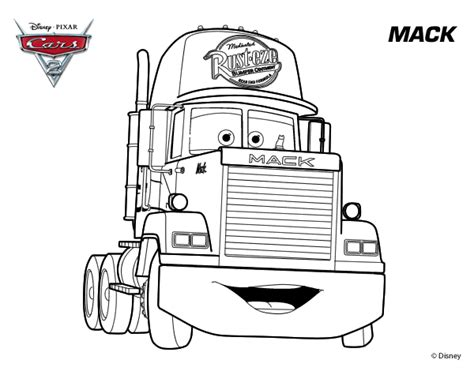 coloring pages cars mack dibujo de cars 2 mack para colorear dibujos net