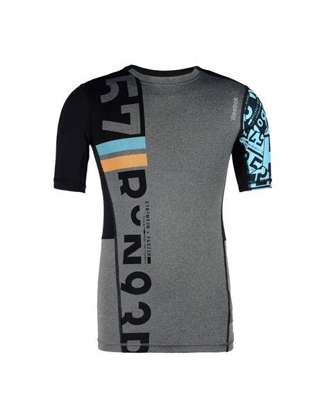 Reebok T Shirt lyst reebok t shirt in black for