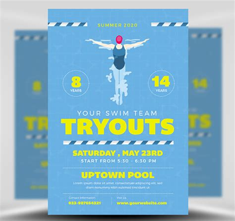 Swim Flyer Template