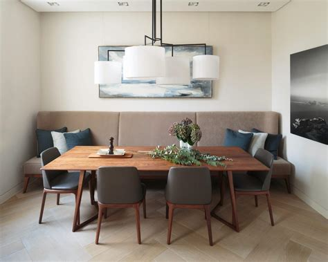 contemporary banquette seating banquette bench seating dining dining room contemporary with wood floor wood dining