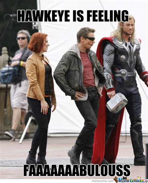 oh silly hawkeye by walkthesky meme center