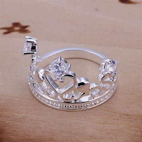 wholesale crown finger silver 925 ring handmade