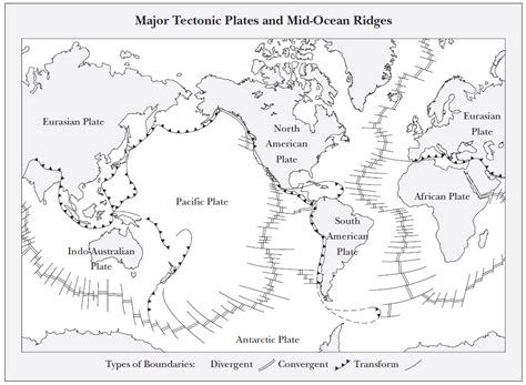 map of tectonic plates tectonic plates map images