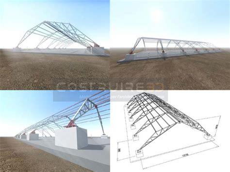 traliccio dwg struttura multifunzionale 3d in acciaio