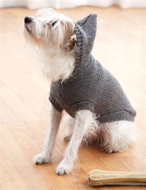 knitting pattern dog coat easy hoodie dog coat patterns yarnspirations