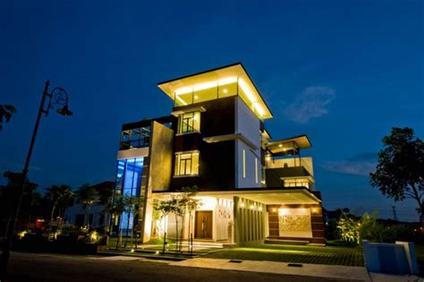house lighting design in malaysia three story house in malaysia with stunning views from the