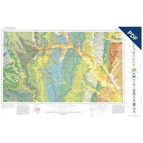 texas geological survey maps ga0013d dallas sheet downloadable pdf the bureau store
