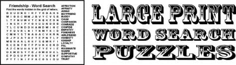 Large print word search puzzles large print although these puzzles are