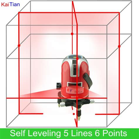 Lomvum Self Leveling Laser 2 Line 2 Points rotary laser level self leveling 5 lines 6 points cross levels with outdoor and slash function