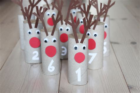 How To Make With Toilet Paper Roll - rudolf toilet paper roll advent calendar morning creativity