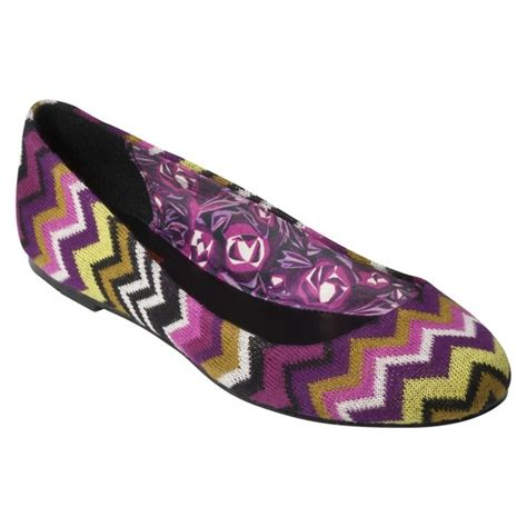 target flat shoes new missoni for target multicolor zig zag pattern