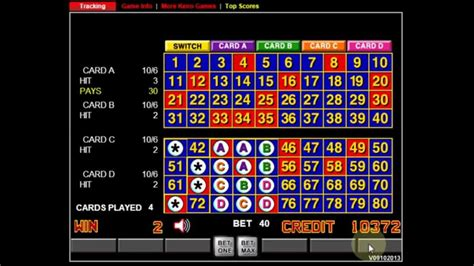 keno pattern numbers four card keno mystic 6 spot winning strategy and tutorial