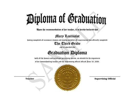 diploma templates homeschooling diplomas easy template for home