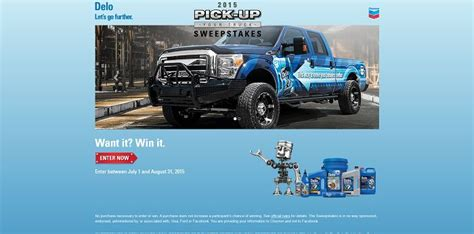 Delo Truck Sweepstakes - 2015 delo pick up your truck sweepstakes win a 2015 ford f 250