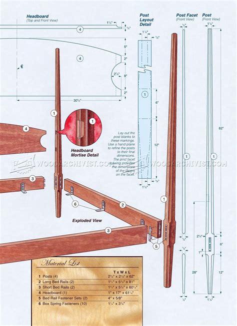 pencil post bed plans woodarchivist