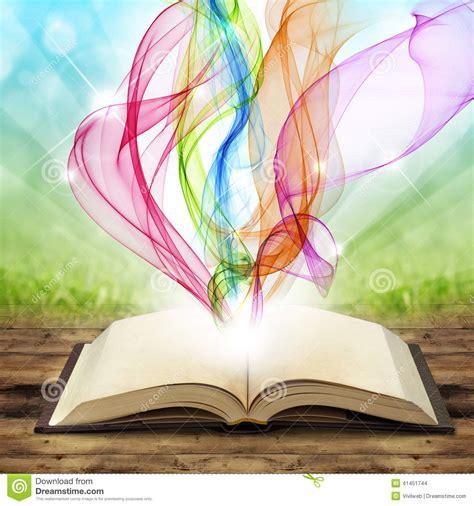 in smoke and ruins burned by magic books libro magico illustrazione di stock immagine 41451744