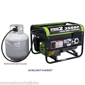emergency power generator 3500 watts propane clean low