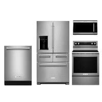 kitchenaid kitchen appliance packages kitchenaid electric 4 piece kitchen appliance package rc