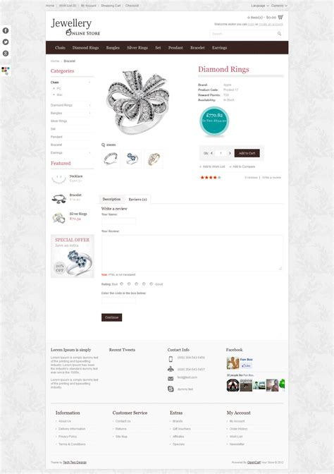 responsive jewellery online store html5 template by hd004