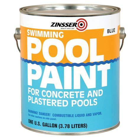home depot zinsser paint zinsser 1 gal blue flat based swimming pool paint