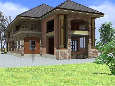 4 Bed 4 Bath Floor Plans by 4 Bedroom Duplex With Attached Two Bedroom Flat Residential Homes And Public Designs