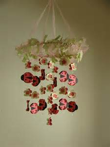 Baby Chandelier Mobile Ladybug Flower Baby Mobile Chandelier By Magicalwhimsy On Etsy