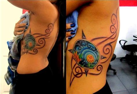 earth air fire water tattoo design compass water air and earth tatoos