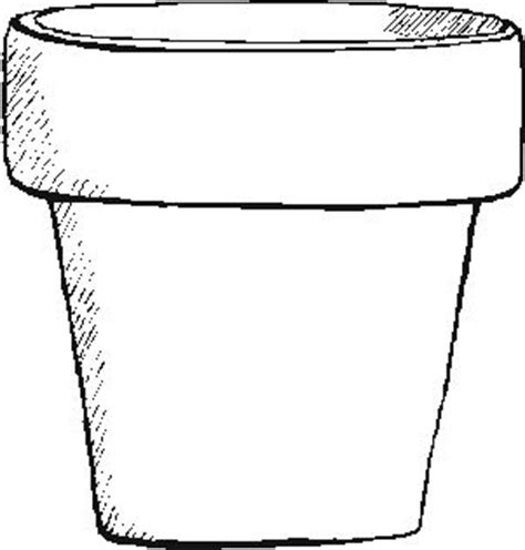 coloring page of flower pot flower pot coloring page flower coloring page