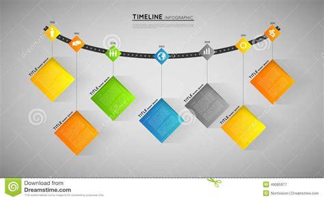 flat design effect timeline template stock vector image 49085977
