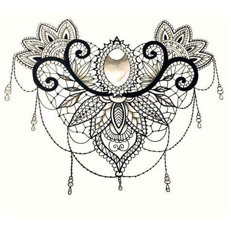 lace pattern tattoo template best lace tattoo design
