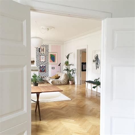 Scandinavian Sitting Room by My Scandinavian Home Sitting Room With Striped Wall In