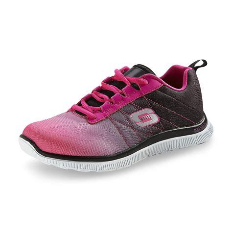 skechers knit shoes skechers s skech knit neon pink black athletic shoe