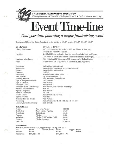 Fundraising Event Tips Fundraising Event Program Template