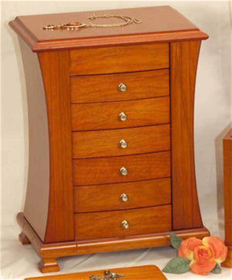 mele jewellery box chantal wooden wardrobe style oakwood